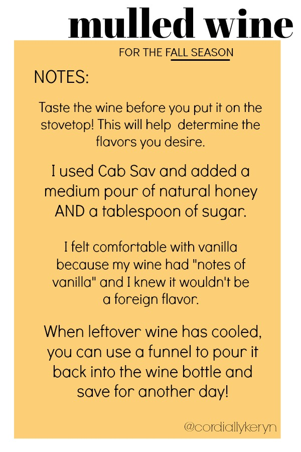 Mulled Wine Notes